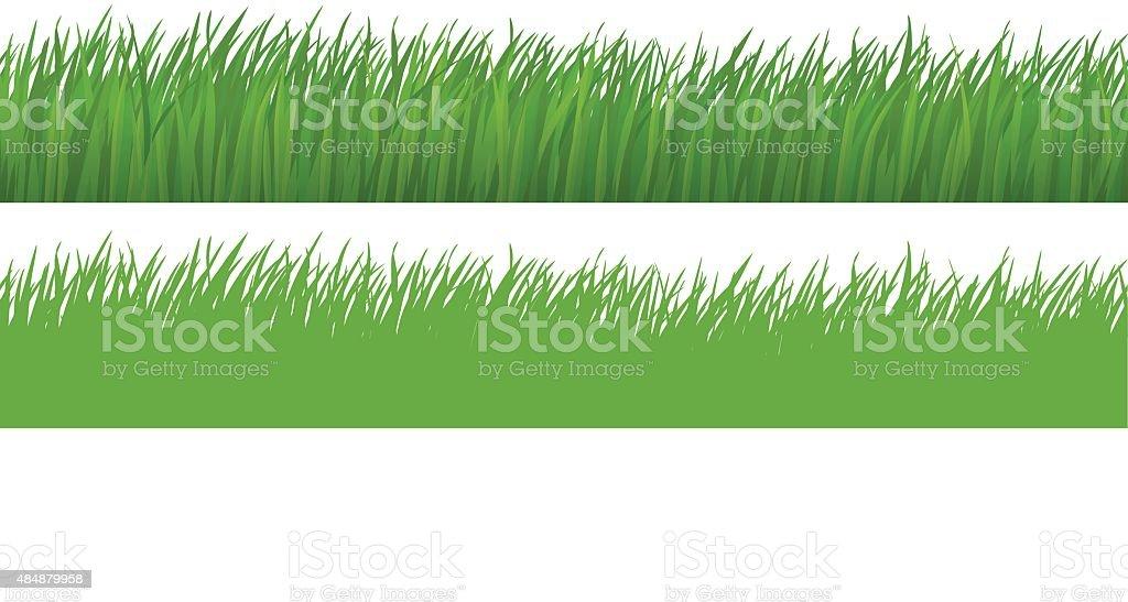 Seamless Grass vector art illustration