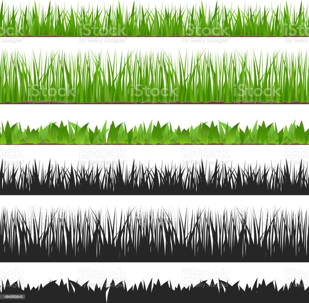Seamless Grass vector art illustration