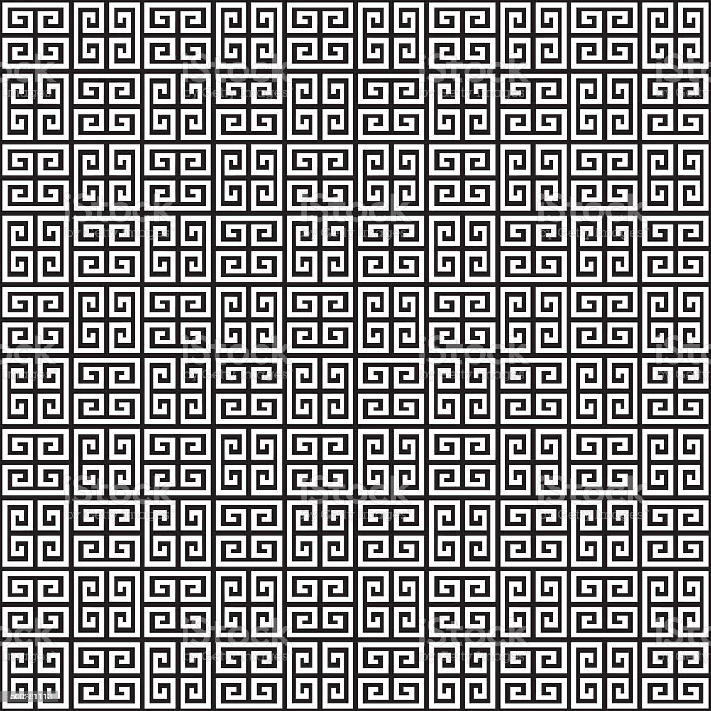 Seamless Greek Key Background Pattern Texture vector art illustration