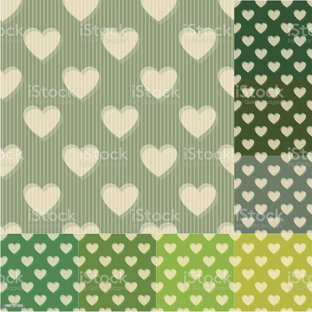 seamless green and blue heart background pattern royalty-free stock vector art