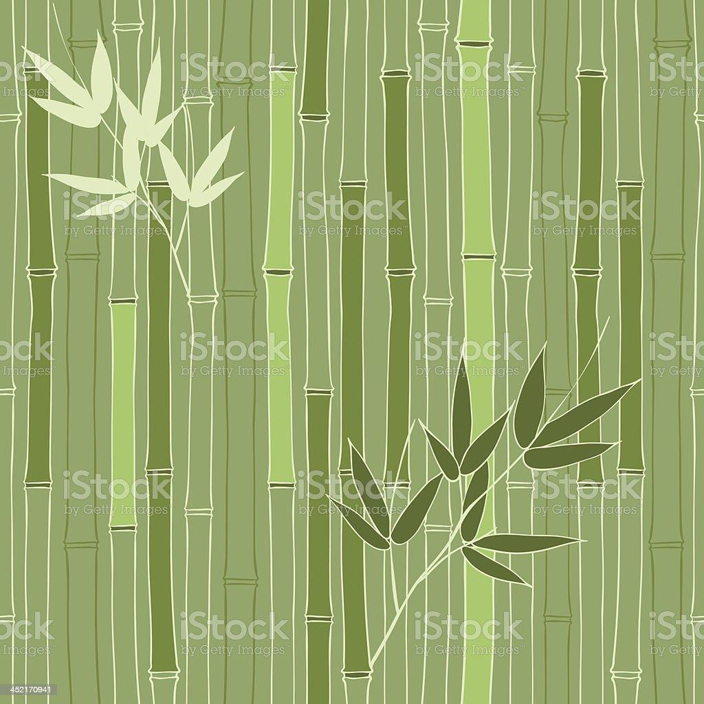 Seamless green bamboo pattern royalty-free stock vector art