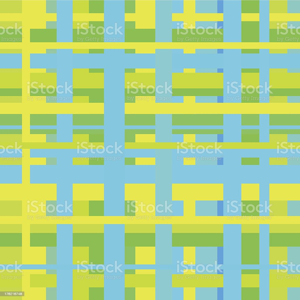 Seamless green geometrical linear pattern royalty-free stock vector art