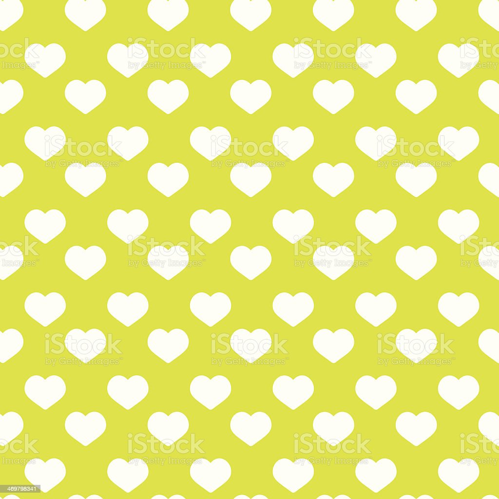 Seamless green heart pattern - valentine wrapping royalty-free stock vector art