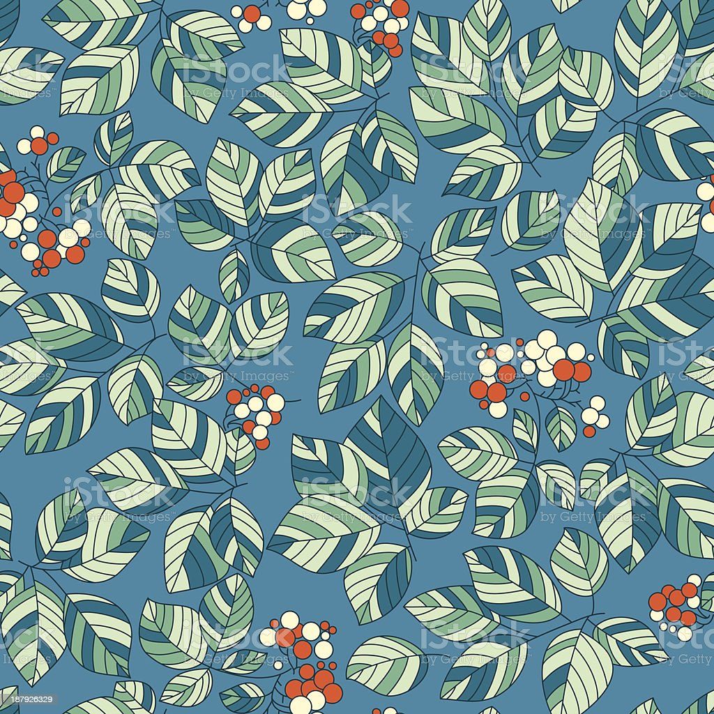 Sem costura padrão de folhas verdes vetor e ilustração royalty-free royalty-free