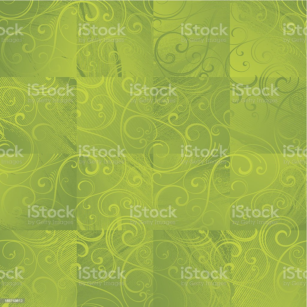 Seamless green wallpaper background royalty-free stock vector art