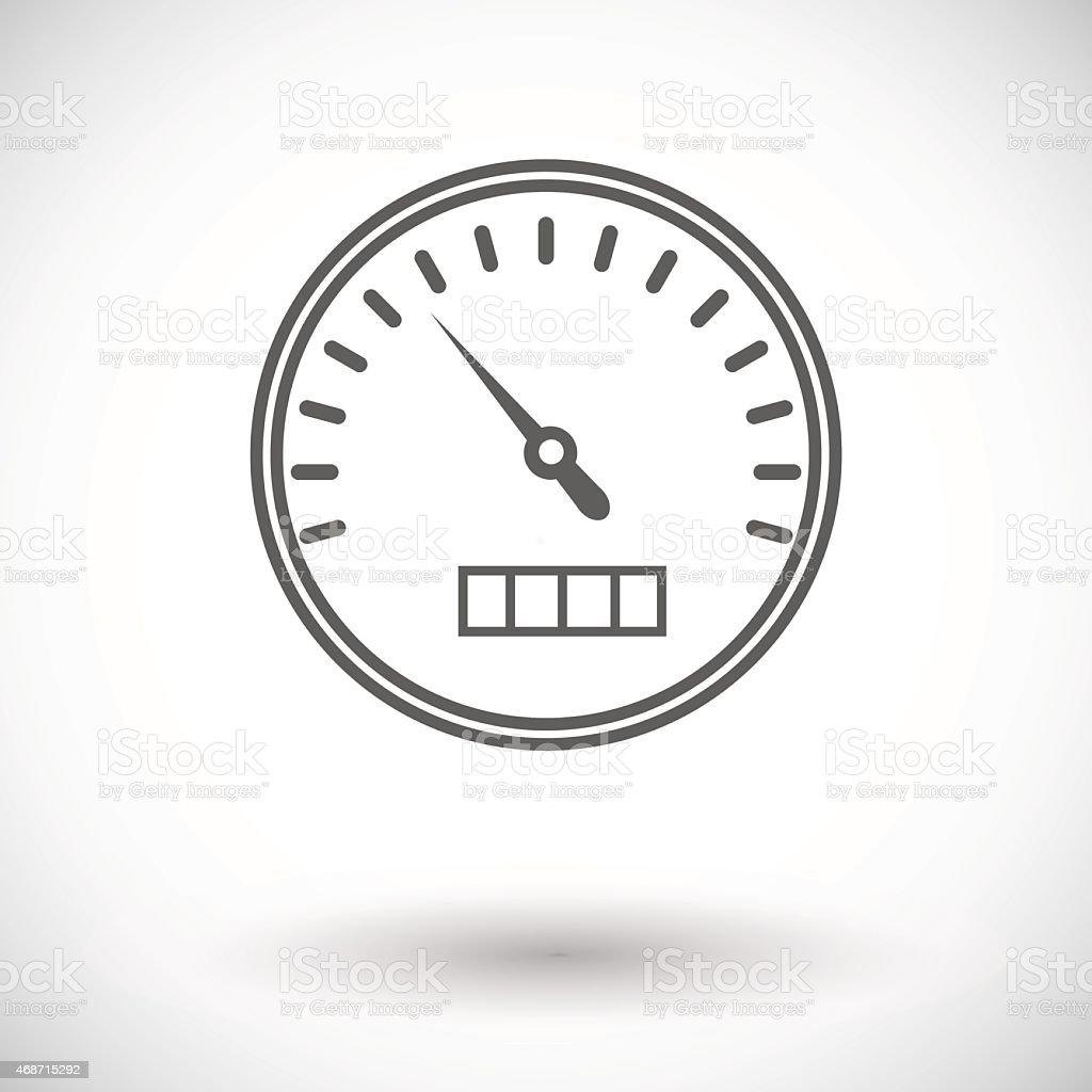 Seamless grey illustration of speedometer icon on vector art illustration