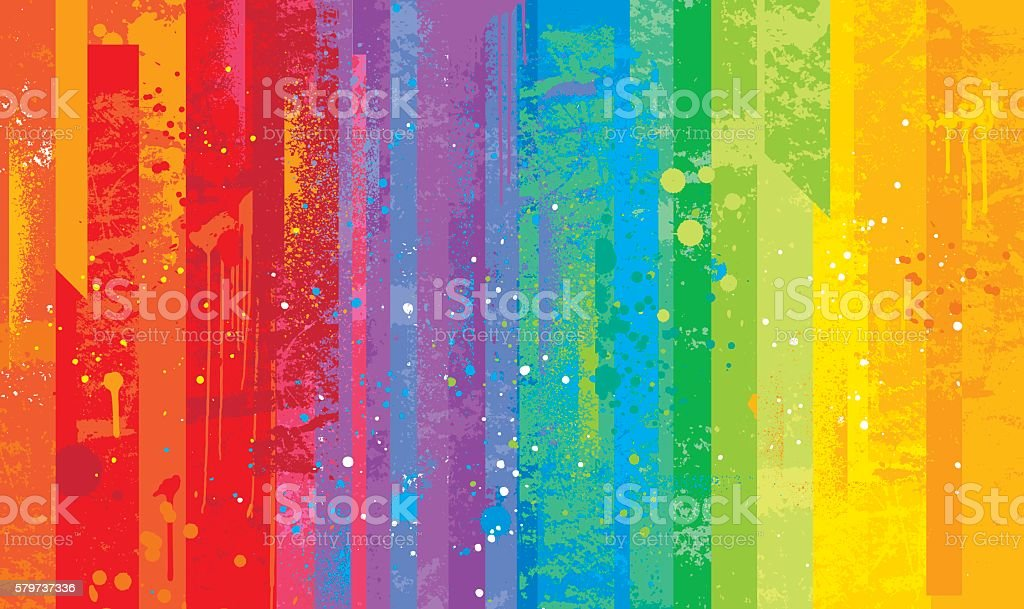 Seamless grunge rainbow background vector art illustration