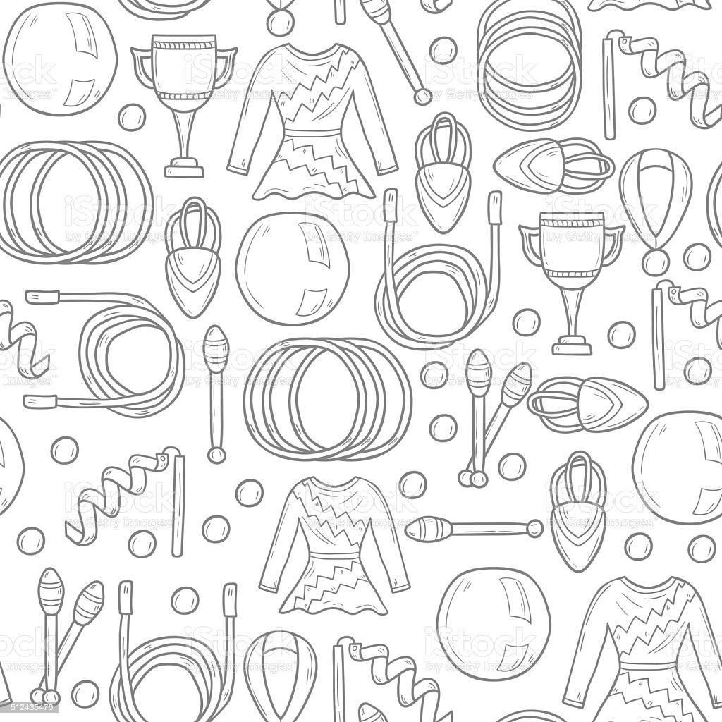 Seamless gymnastics background vector art illustration