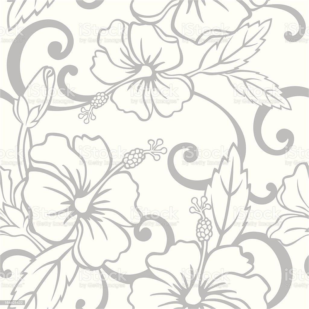 Seamless Hawaiian Wedding Pattern royalty-free stock vector art