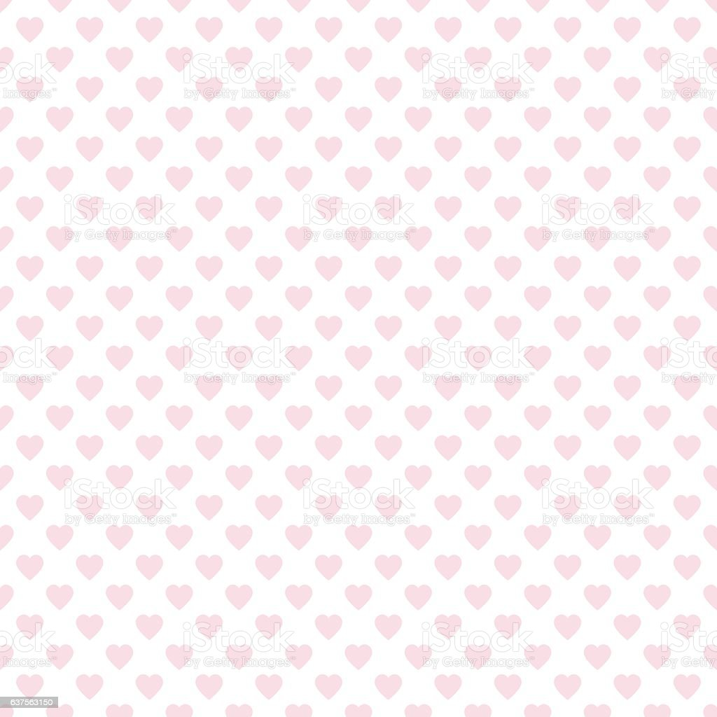 Seamless Heart Pattern for Valentine's Day vector art illustration