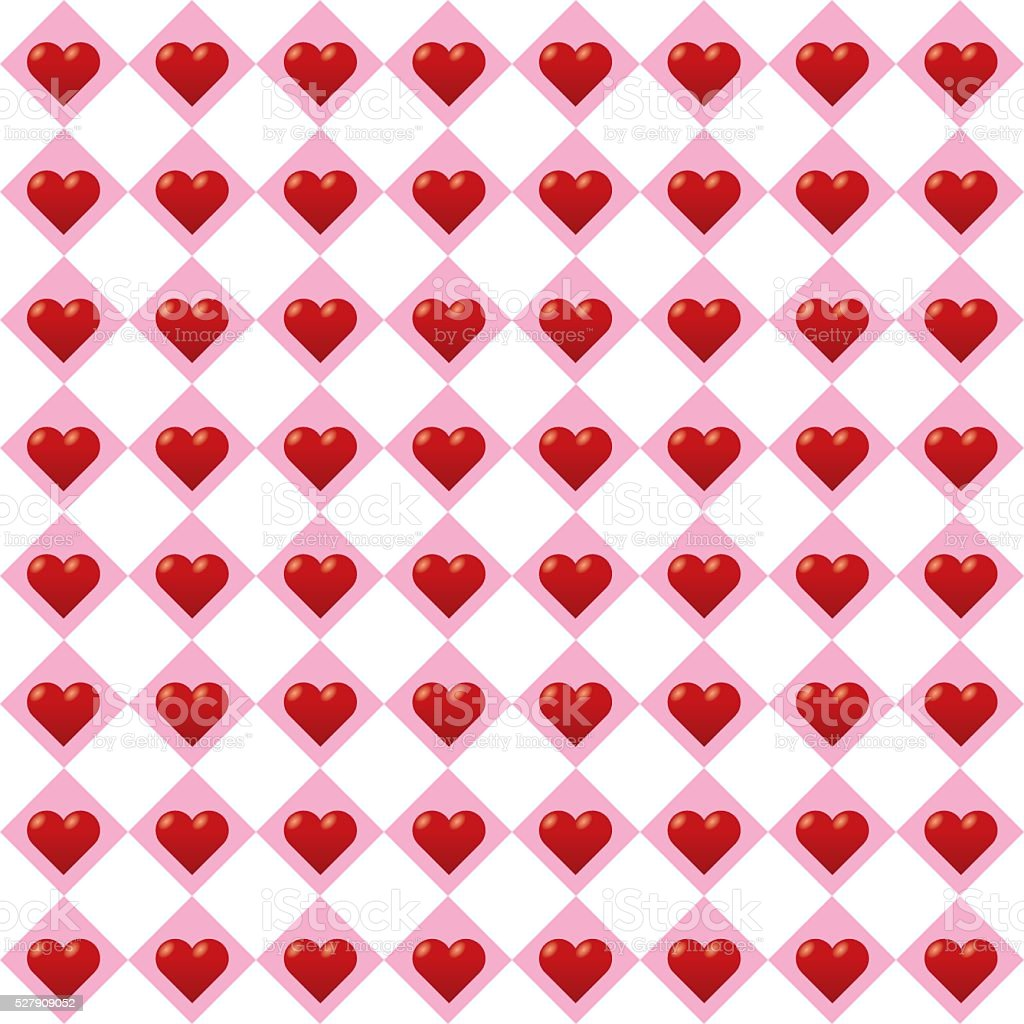 Seamless Heart Pattern. Ideal for Valentine's Day. vector art illustration