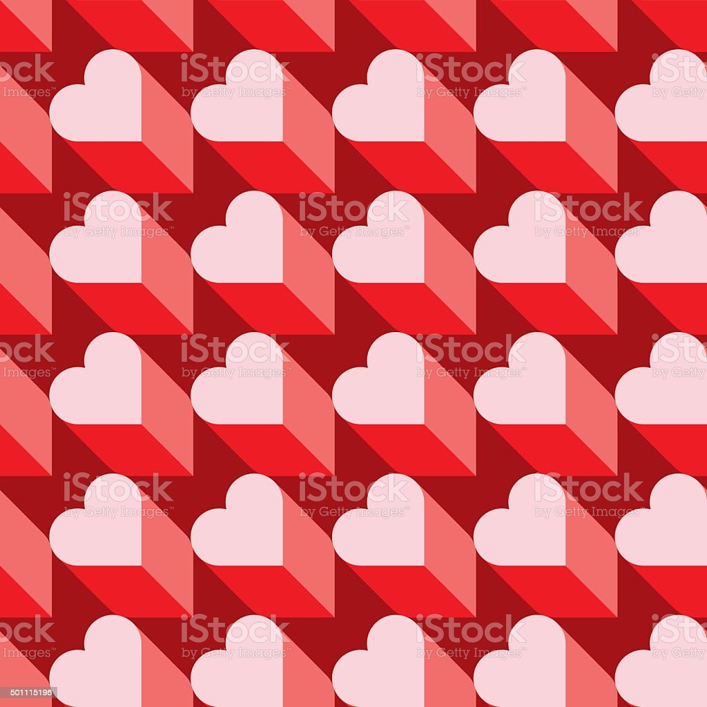 Seamless Heart Pattern. Ideal for Valentine's Day Wrapping Paper. vector art illustration