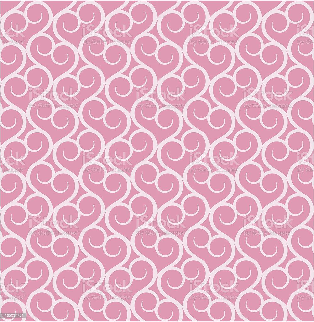 Seamless Heart Wallpaper ( Vector ) royalty-free stock vector art