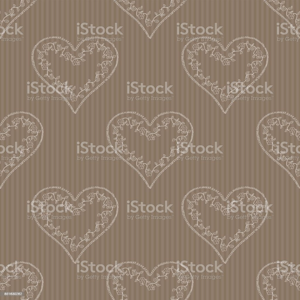 Seamless hearts pattern in the background. vector art illustration