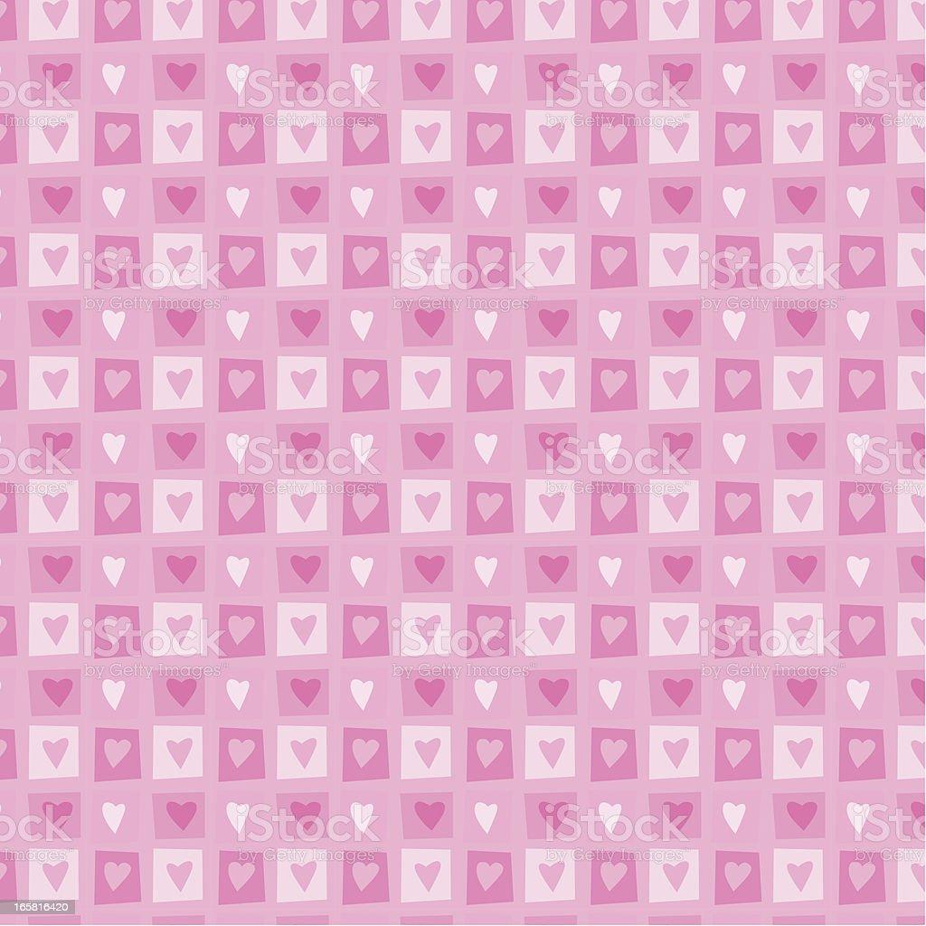 Seamless Hearts Pattern royalty-free stock vector art