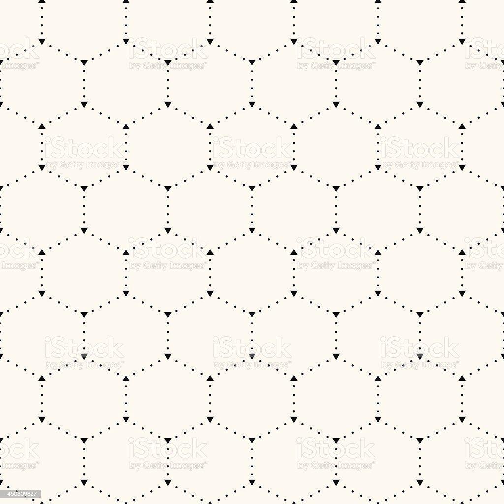 Seamless hexagon pattern. vector art illustration