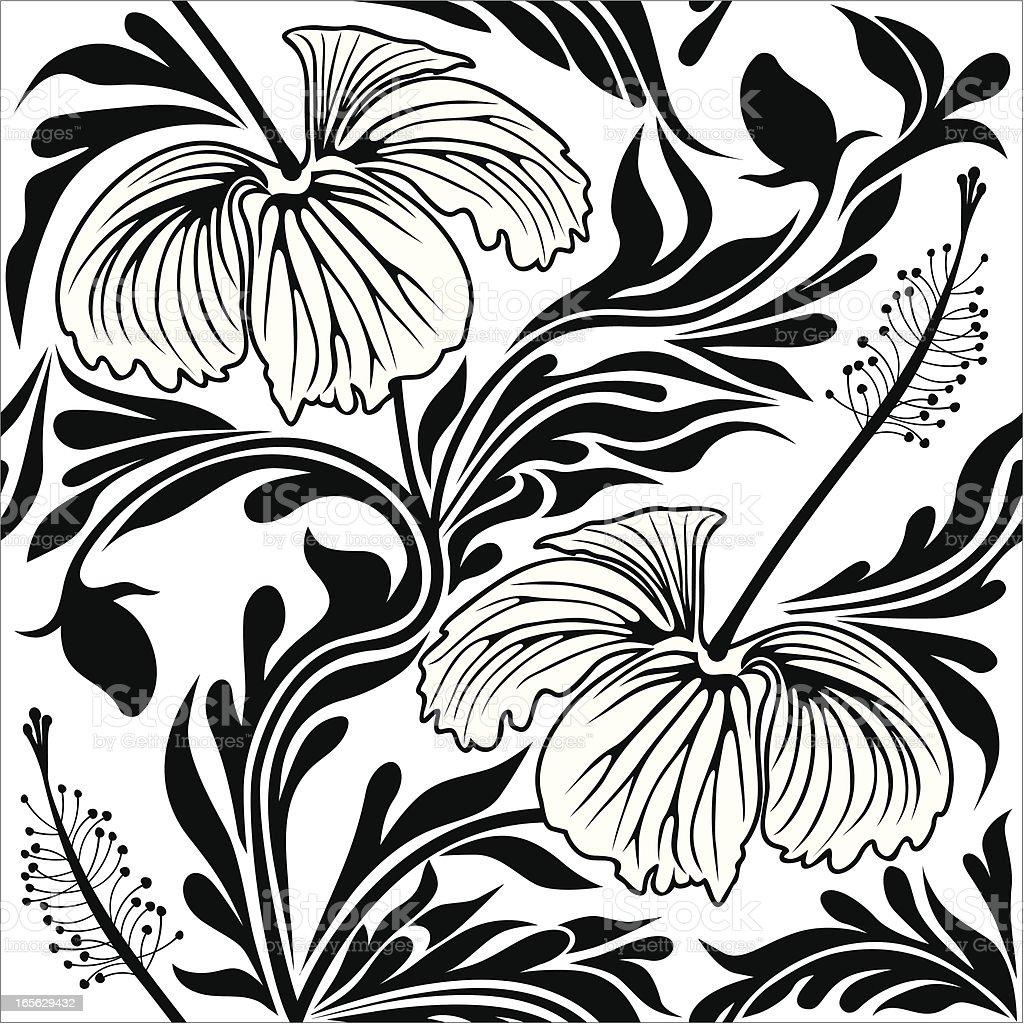 Seamless hibiscus. royalty-free stock vector art