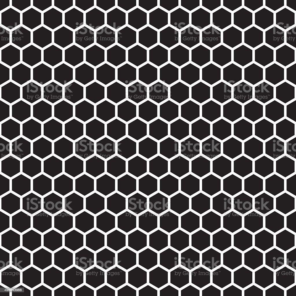 Seamless Honeycomb Pattern Texture vector art illustration