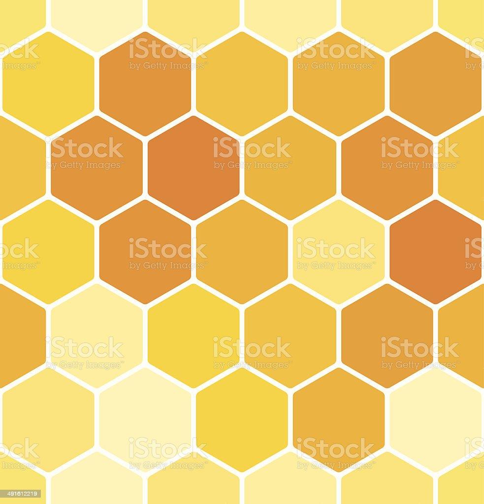 Seamless honeycomb pattern vector art illustration