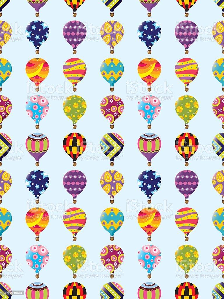 seamless hot air balloon pattern royalty-free stock vector art