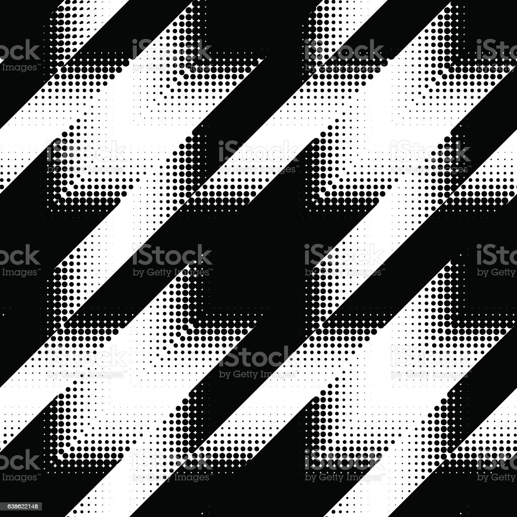 Seamless Hounds-tooth pattern vector art illustration