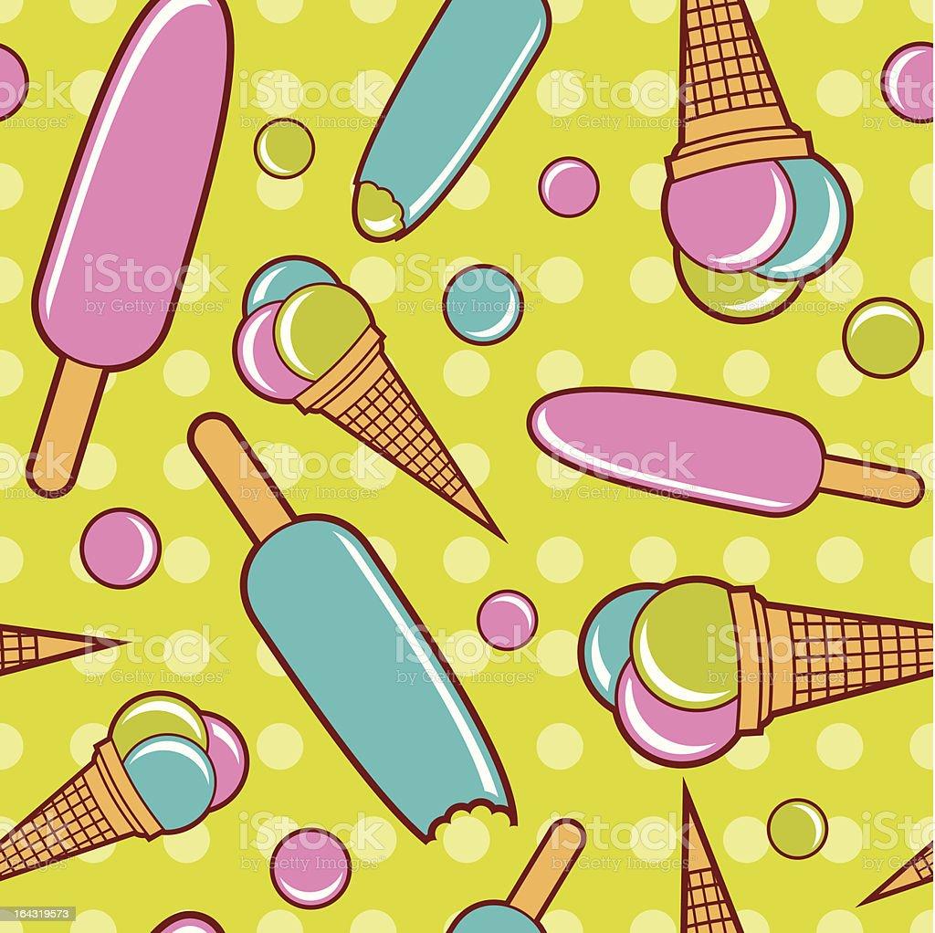 Seamless ice cream wallpaper background royalty-free stock vector art