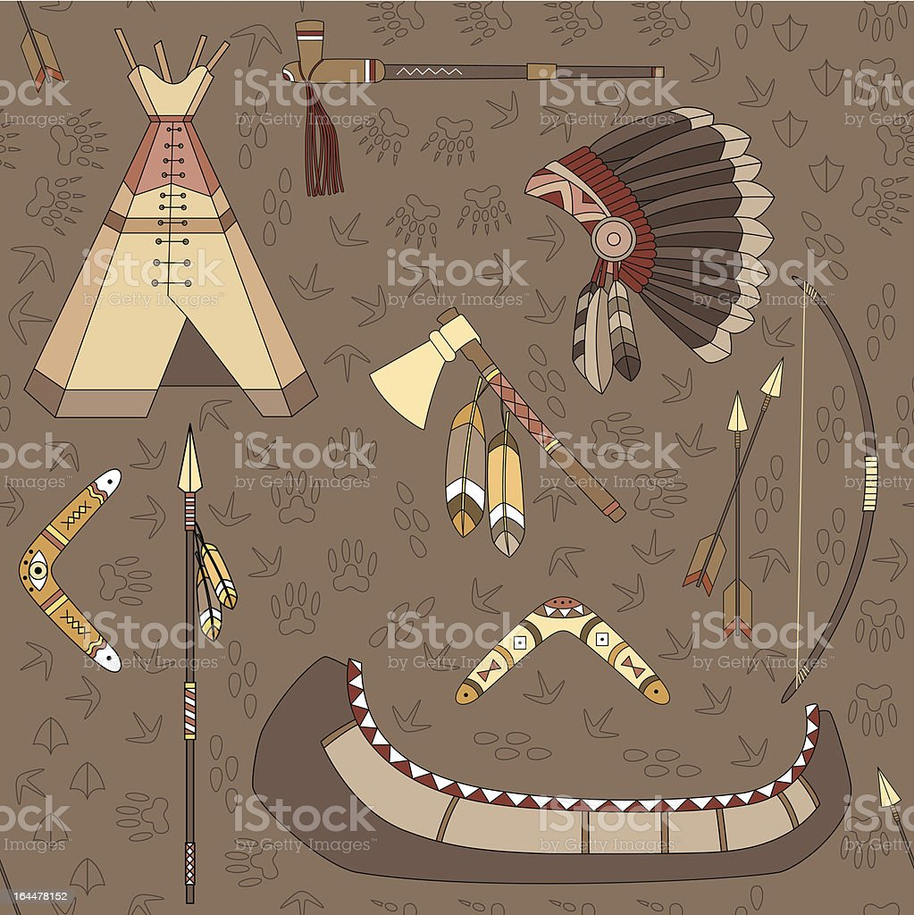 seamless indian pattern royalty-free stock vector art