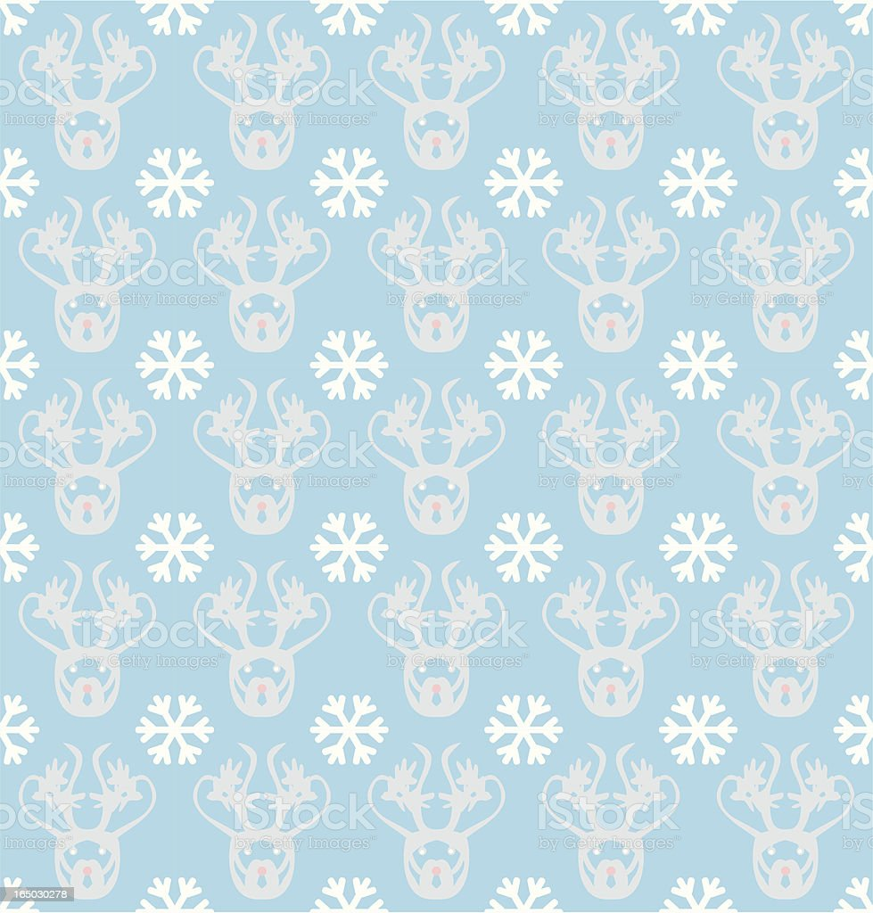 Seamless Inuit Reindeer Wallpaper ( Vector ) royalty-free stock vector art