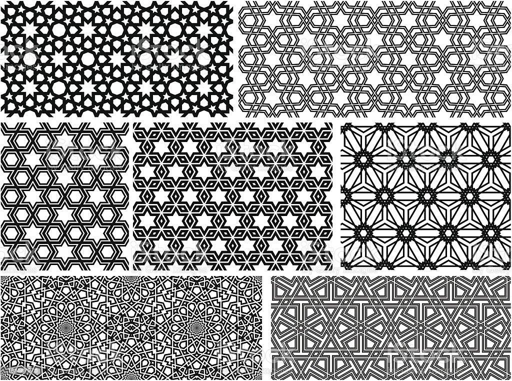 Seamless Islamic patterns II vector art illustration