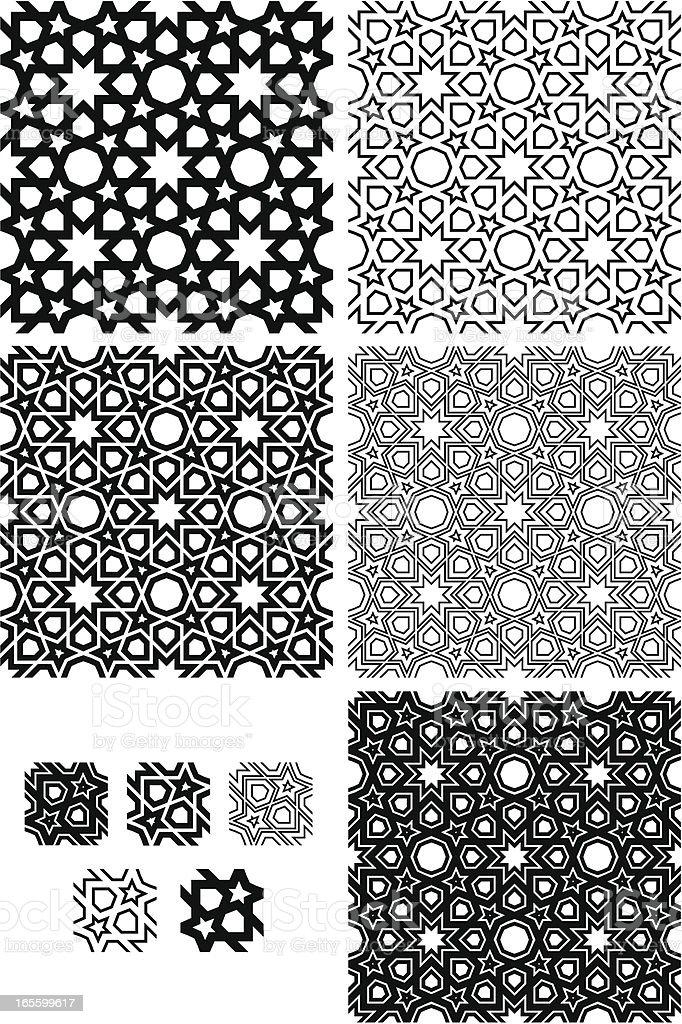 Seamless Islamic star pattern royalty-free stock vector art