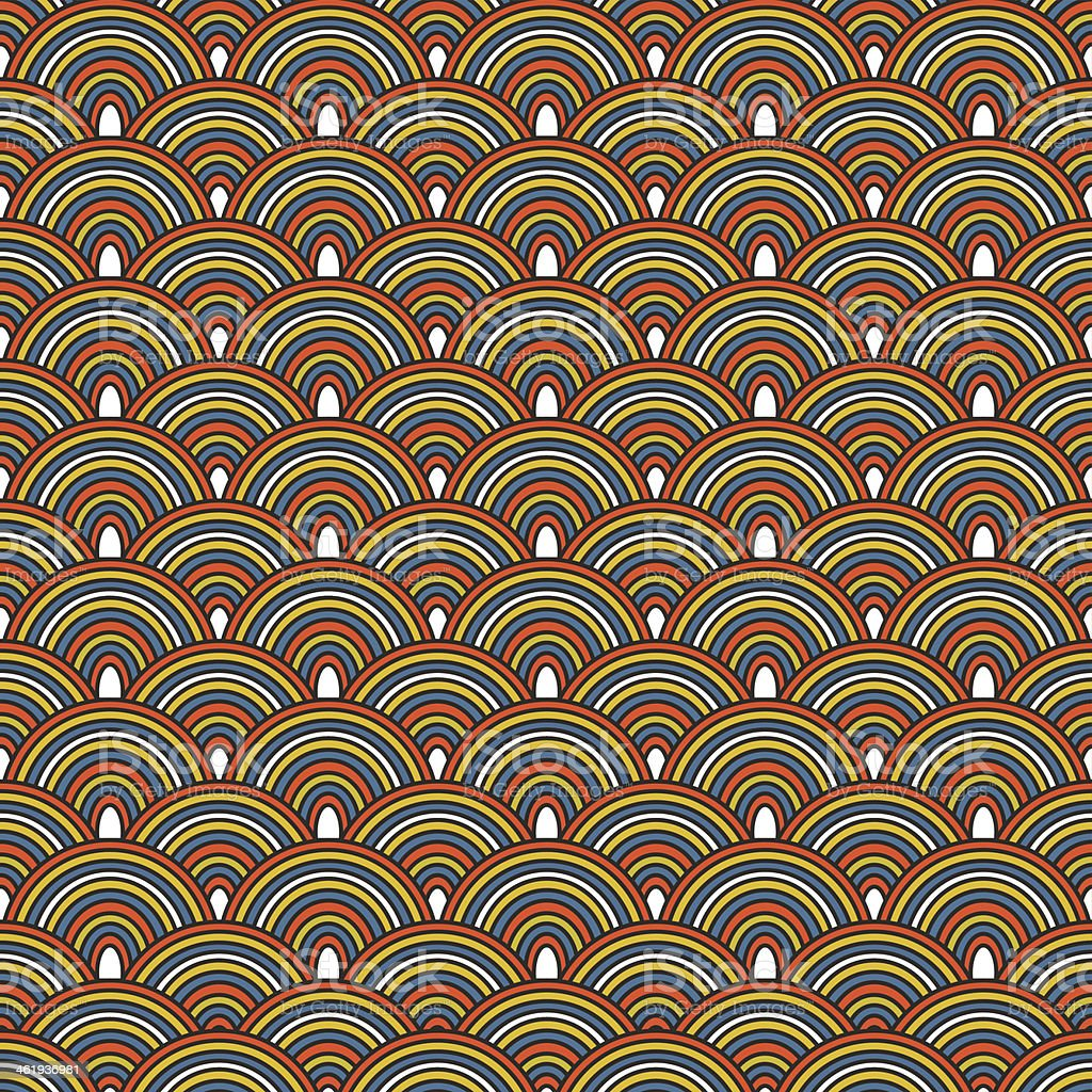 Seamless Japanese pattern, Colorful decorative royalty-free stock vector art