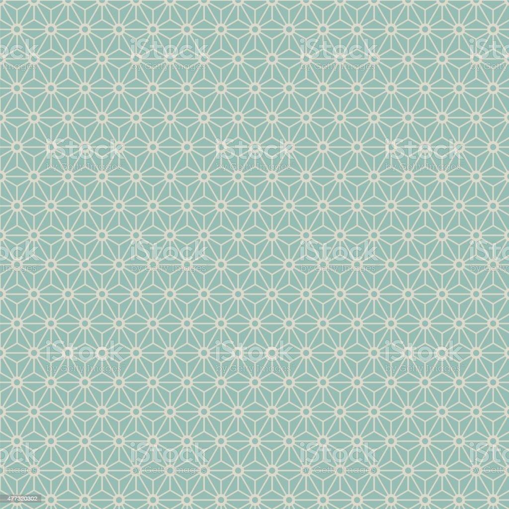 Seamless Japanese style geometry flower pattern. vector art illustration