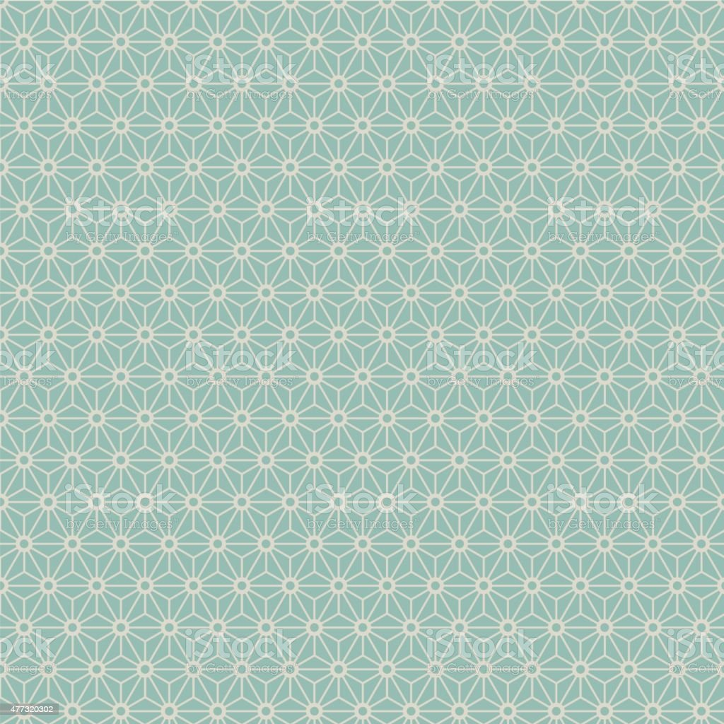 Seamless Japanese style geometry flower pattern. vector art illustration