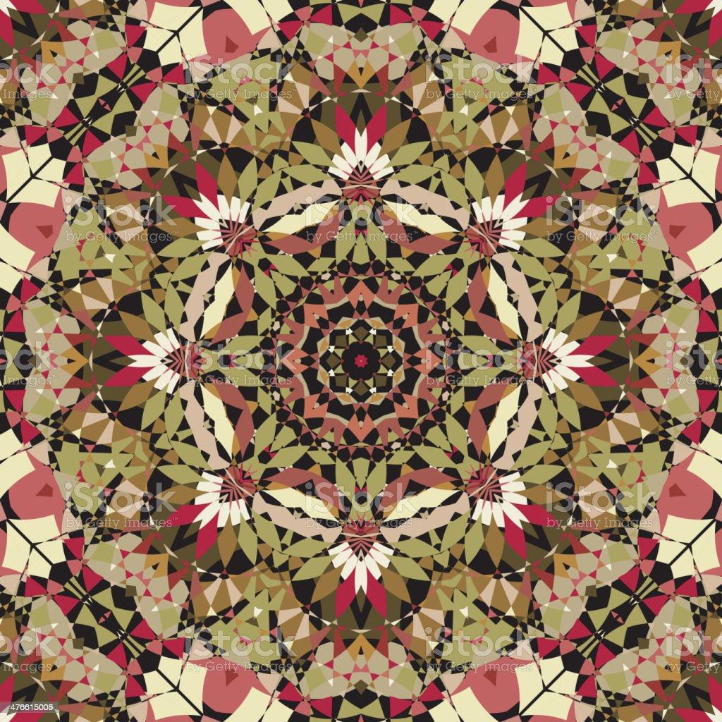 seamless kaleidoscope pattern royalty-free stock vector art