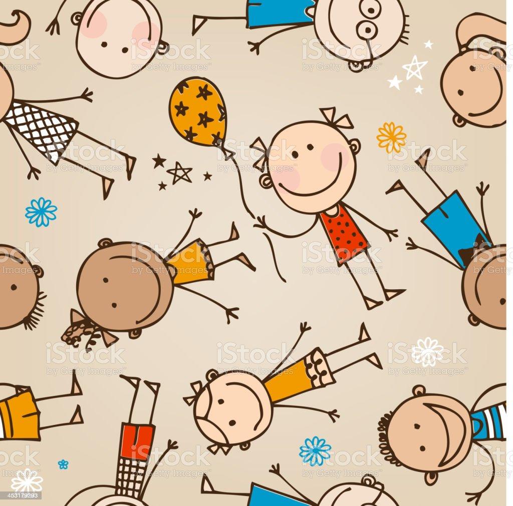 Seamless kids illustration royalty-free stock vector art