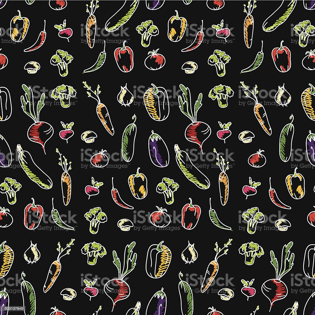 Background image 7945 - Seamless Kitchen Background Of Vegetables Beautiful Background Vector Illustration Royalty Free Stock