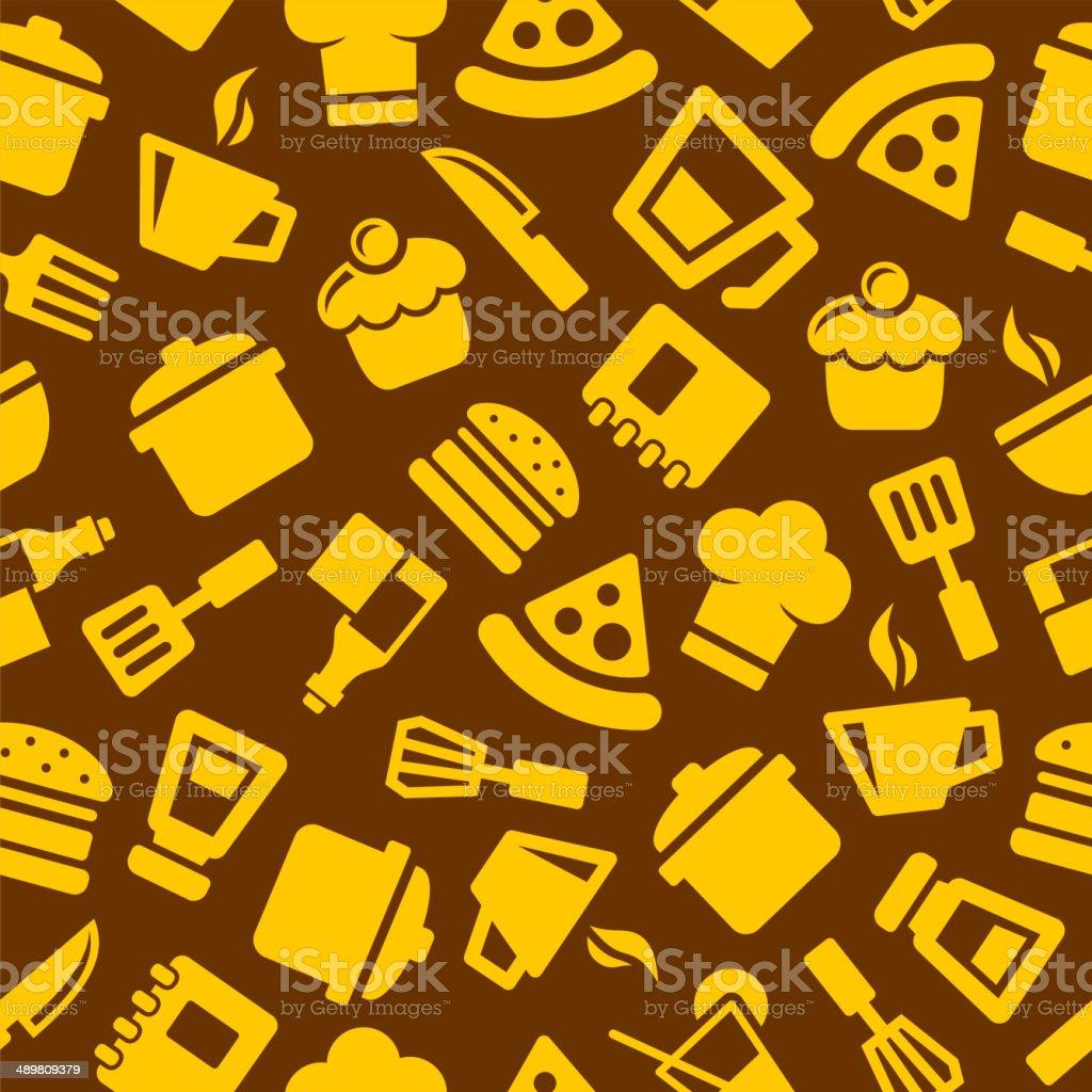 Seamless Kitchen Pattern royalty-free stock vector art