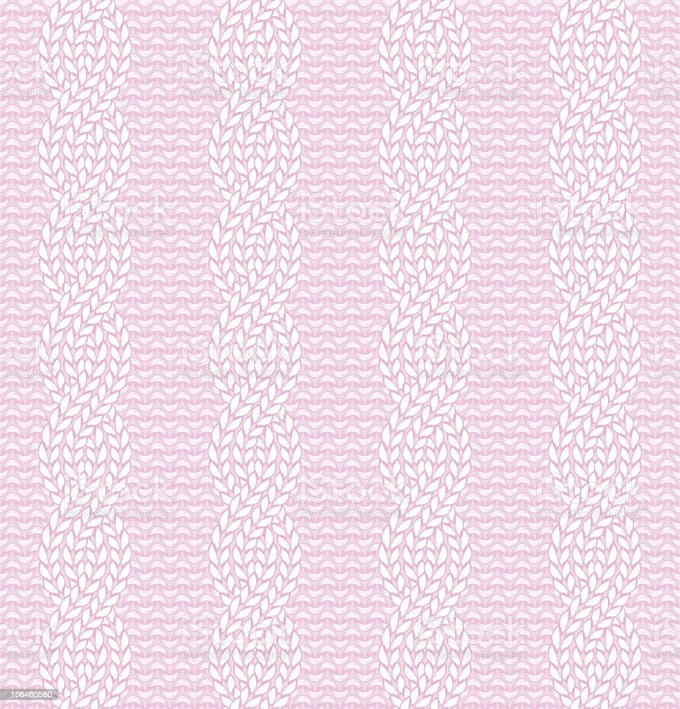 Seamless knitted pattern royalty-free stock vector art