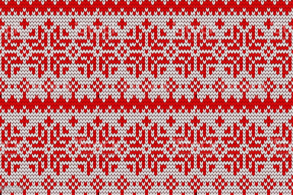 Seamless knitted pattern. vector art illustration