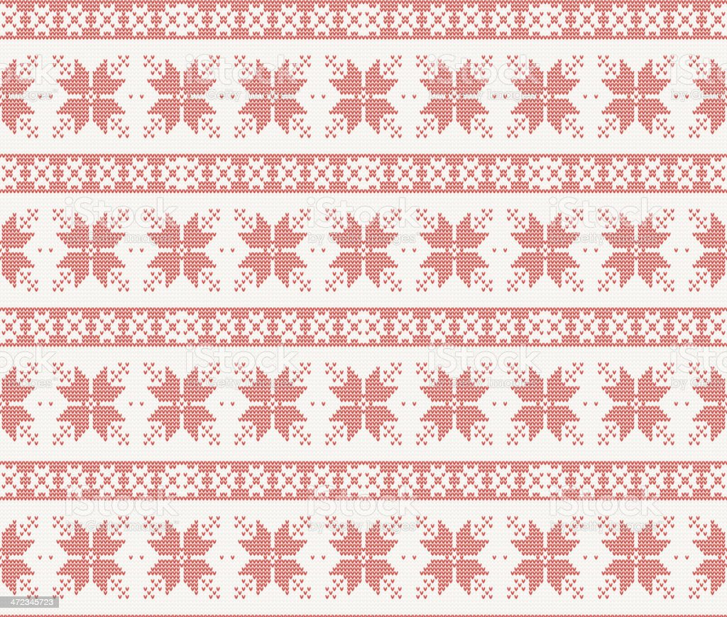 Seamless knitted pattern with stars royalty-free stock vector art