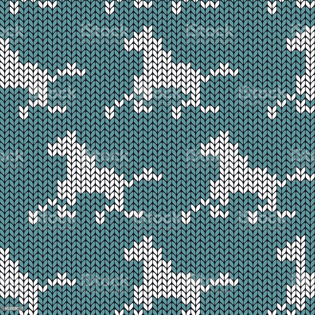 Seamless knitting pattern with horses royalty-free stock vector art