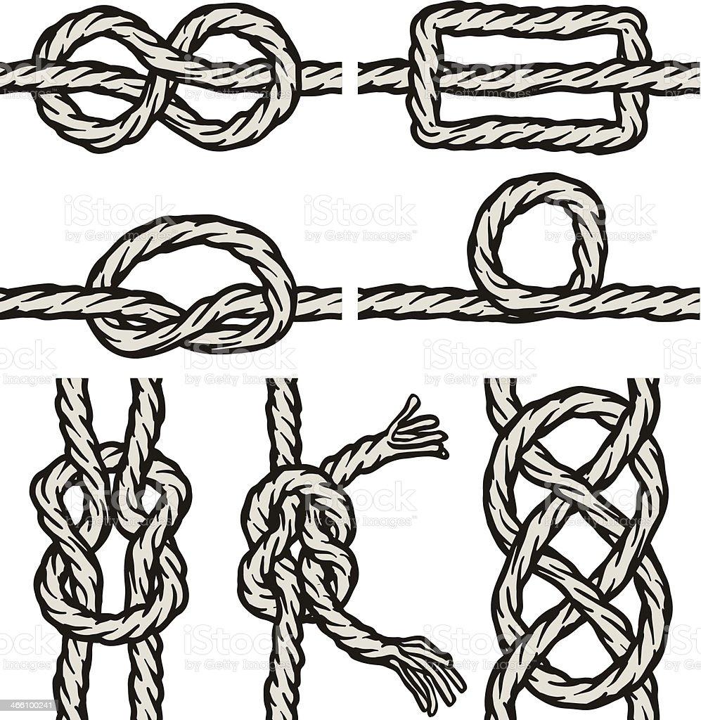 Seamless knots vector art illustration