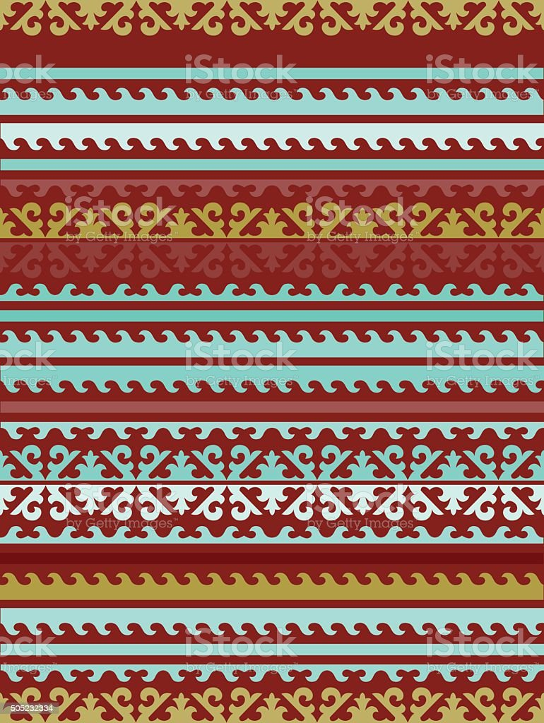 Seamless Kyrgyz national ornament pattern/ vector art illustration