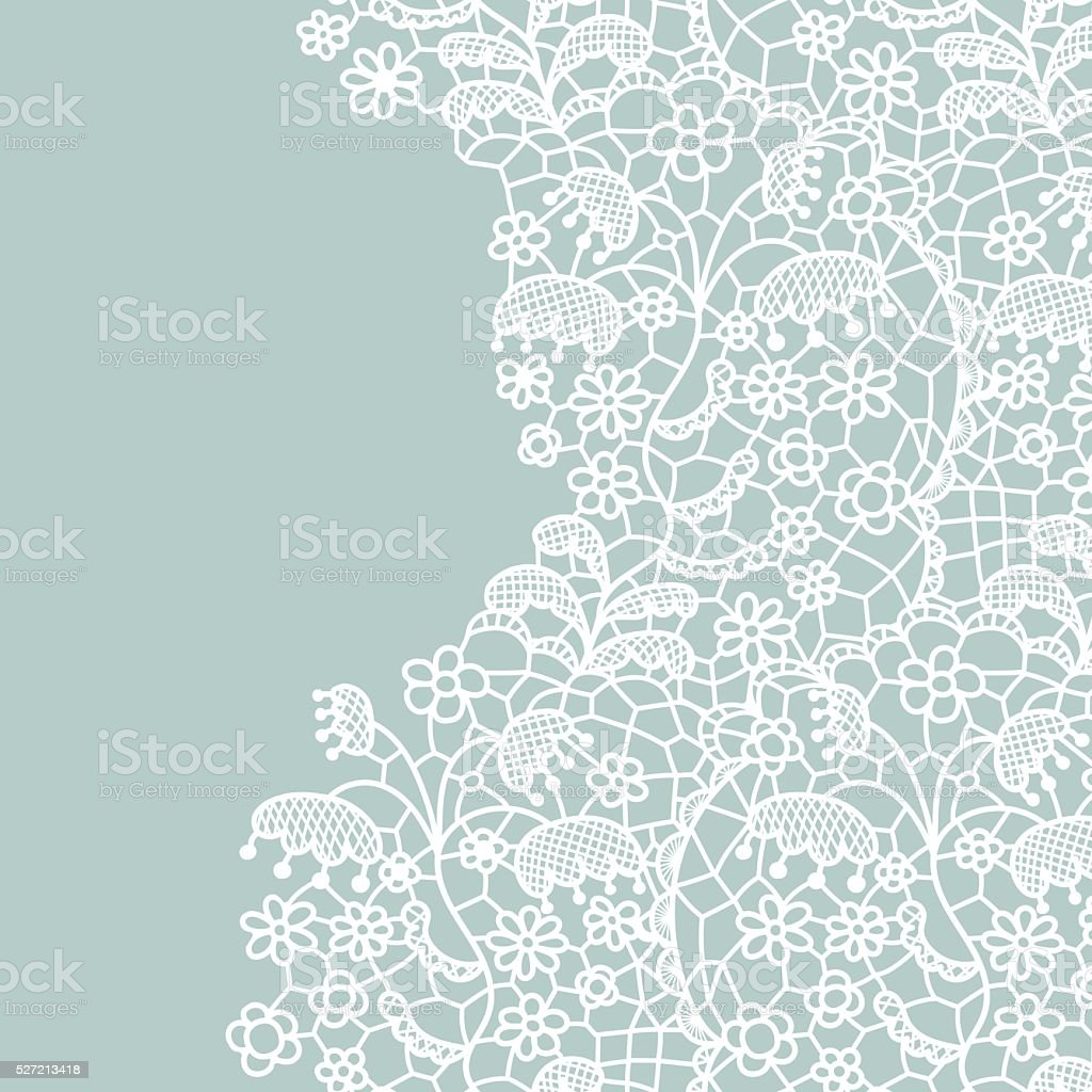 Seamless lace border. Invitation card. vector art illustration