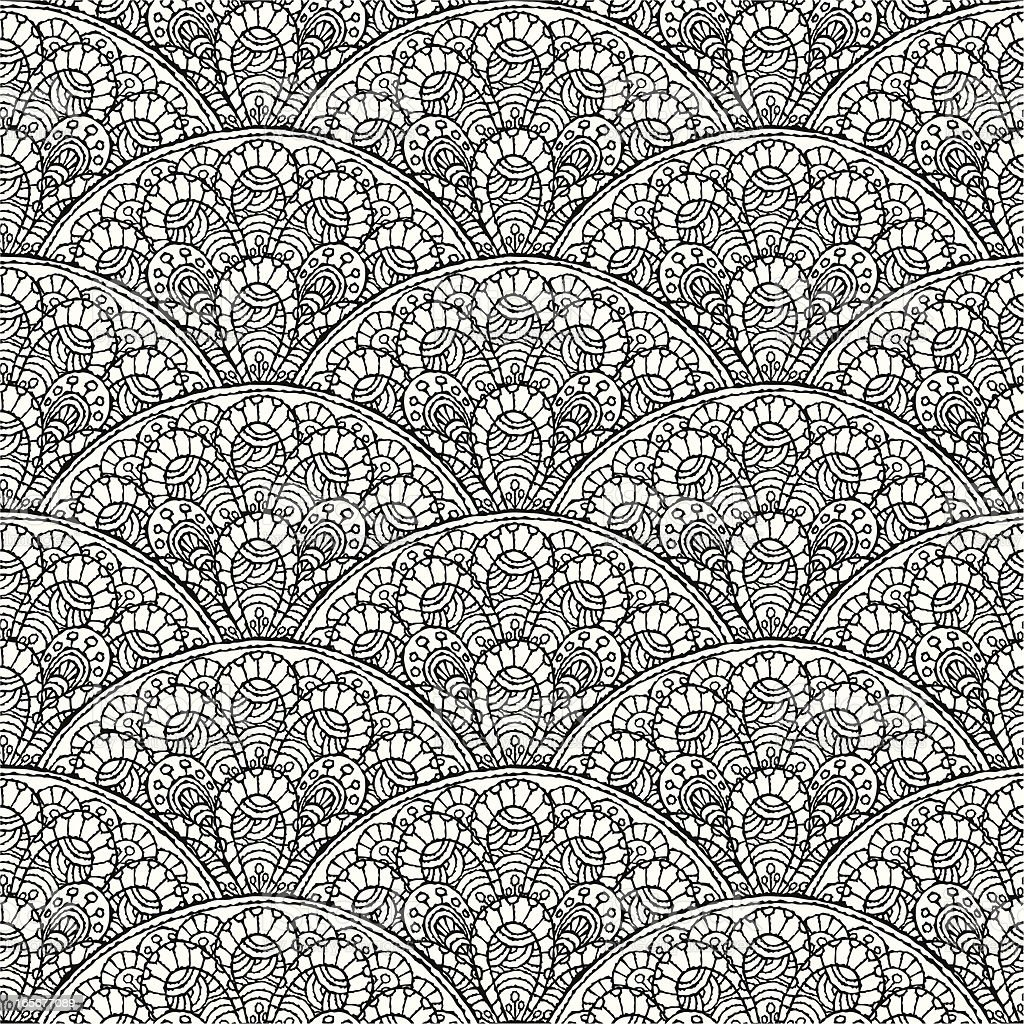 Seamless Lace Pattern royalty-free stock vector art