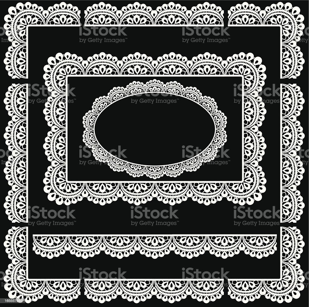 Seamless Lace trim border/Picture Frame royalty-free stock vector art