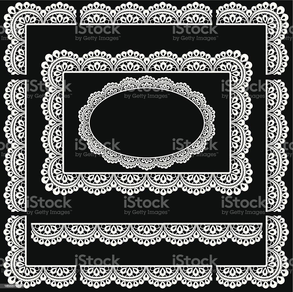 Seamless Lace trim border/Picture Frame vector art illustration