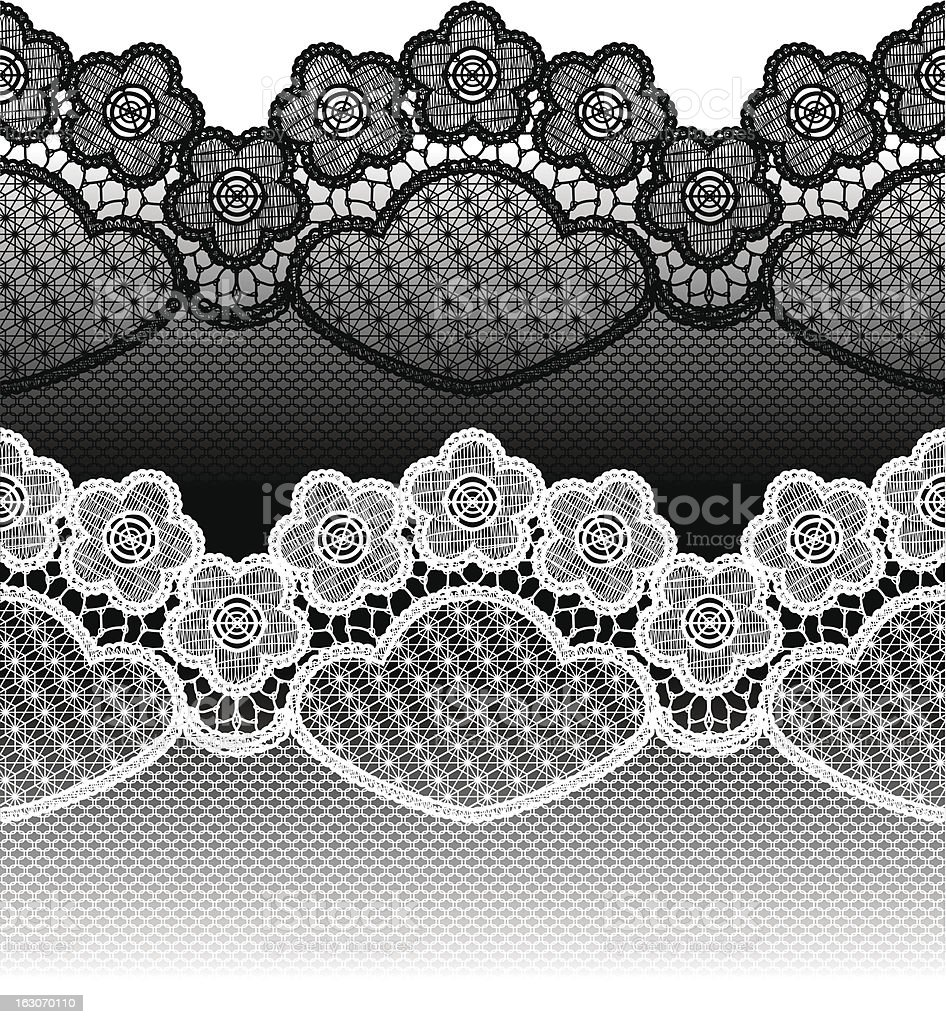 Seamless lace royalty-free stock vector art