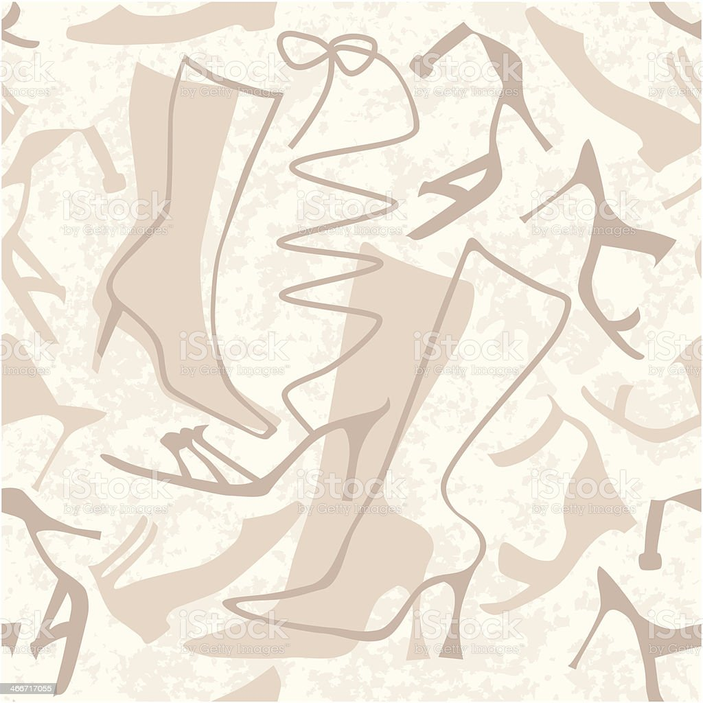 Seamless ladies shoes pattern royalty-free stock vector art