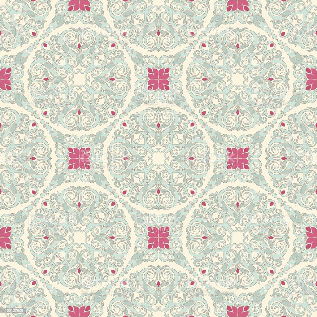 seamless leaf blue pattern royalty-free stock vector art